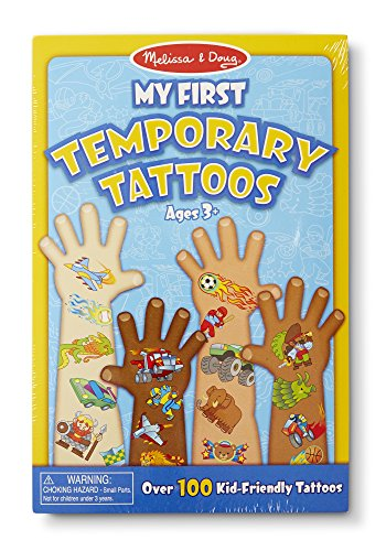 Melissa & Doug My First Temporary Tattoos: Adventure, Creatures, Sports, and More - 100+ Kid-Friendly (Tattoos Of Kids)