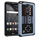 Cheap LG Stylo 2 Plus Case, DURARMOR LG Stylus 2 Plus Vintage Nintendo NES Game Controller Dual Layer Hybrid ShockProof Slim Fit Armor Air Cushion Bumper Defender Protector Case Cover