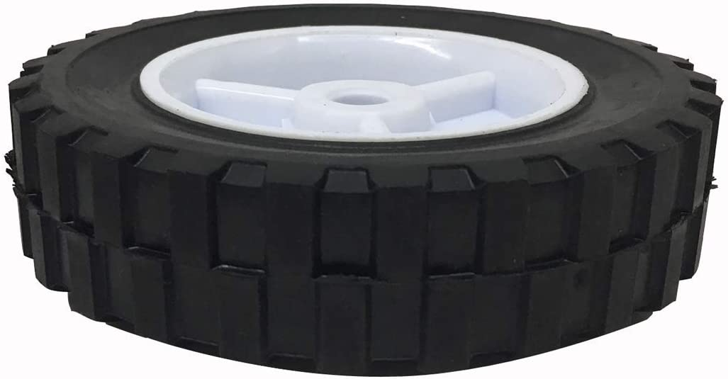 """2 Pack 6/"""" x 1-1//2/"""" Plastic Rim Wheel Tire 70 LB Load for Lawnmower or Cart"""