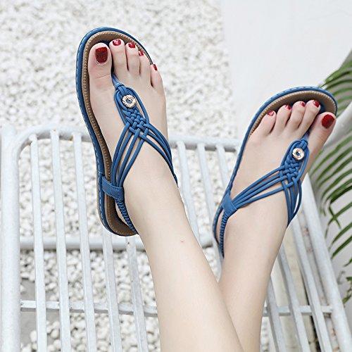 Deslizamiento Deslizamiento Sandalias de de YMFIE Zapatos Verano C de de Playa Plano Dulce Ocasional Zapatos de la Vacaciones de Playa Manera qZEIddw