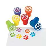 Fun Express Paw Print Stampers - 24 Pieces - Educational and Learning Activities for Kids