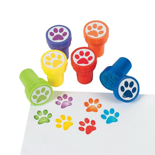 Fun Express 24 Paw Print Stampers -