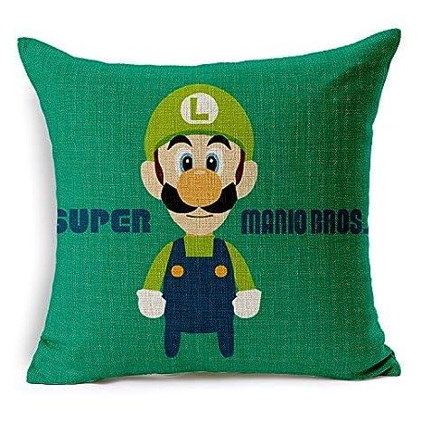 chicozy Super Mario Luigi seta cadáver flor fundas de ...