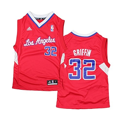 adidas Los Angeles Clippers Blake Griffin # 32 NBA Youth Big Boys Road Replica Jersey - Red (Small (8))
