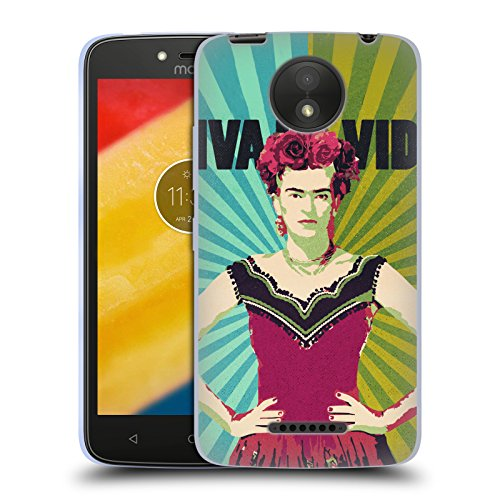 Official Duirwaigh Viva La Vida Frida Kahlo Soft Gel Case for Motorola Moto C - Frida C