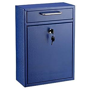 Adiroffice Locking Drop Box Wall Mounted Mailbox