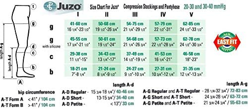 20-30 mmHg Juzo Soft Series Compression Stockings. Knee High. Open Toe. Short. Silicone Grip. ,Size:IV,Color:White