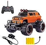 MousePotato 1:20 Hummer Rock Crawler Monster Truck Racing Car Rechargeable (Orange-05)