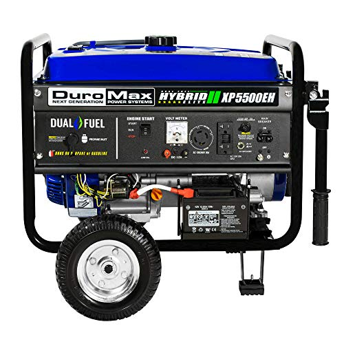 DuroMax XP5500EH 5,500 Watt 7.5 HP Portable Electric Start Dual Fuel Gas/Propane Generator by DuroMax (Image #3)