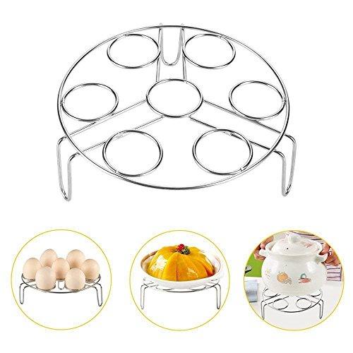 Steamer Basket Assembly (E EVERKING Steamer Rack, Egg Steam Rack Stand Food Steaming Basket Holder Stainless Steel Stackable Cooker for Kitchen Instant Pot and Pressure Cooker, 3 Pack)