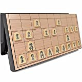 VT BigHome Foldable Magnetic Folding Shogi Set Boxed portable Japanese Chess Game Sho-gi Exercise logical thinking 25252 cm