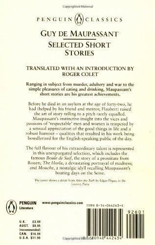 Selected Short Stories Penguin Classics Guy De Maupassant Roger