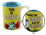Enesco 6000148 Margaritaville By Our Name Is Mud Booze Is In The Blender Stoneware Coffee Mug, 16 oz, Multicolor