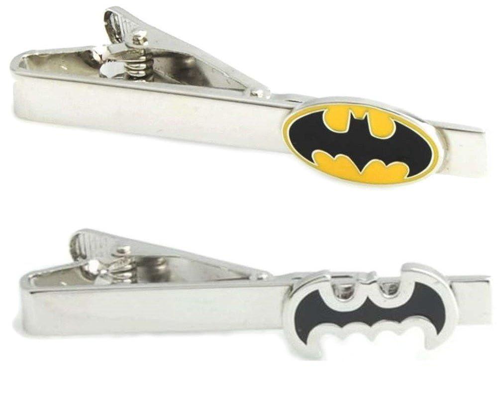 Fashion Jewelry - Juego de 2 Clips para Corbata de Batman (Plata ...