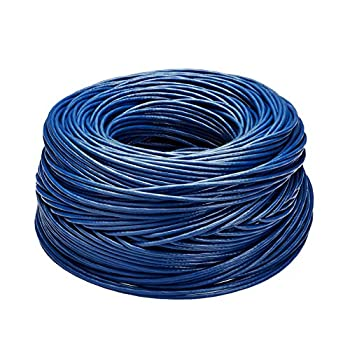 Image of AmazonBasics Cat6 Ethernet Solid Bulk Cable (23 AWG, UTP) - 1000-Foot, Blue Cat 6 Cables
