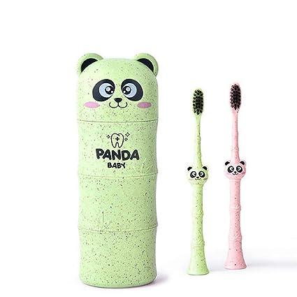 CYDKZMEPA Cepillo de Dientes de Viaje Portavasos Caja de Almacenamiento Conjunto de Vasos de Dientes Panda
