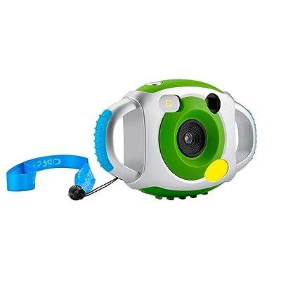 Mini Digital Camera pour enfants, caméra enfants pour garçons filles Creative léger Digital Camera pour enfants avec coque de protection en silicone souple (Vert)