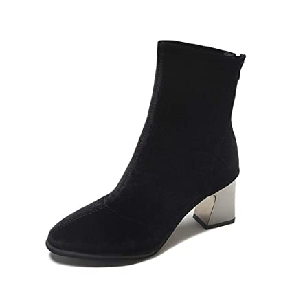 d90e228845d97 Amazon.com: Eric Carl Womens Fashion Ankle Boots Pointed Toe Chunky ...