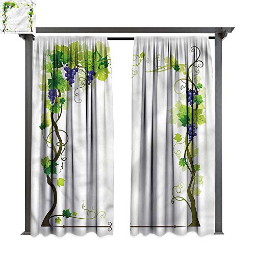 cobeDecor UV Protectant Indoor Outdoor Curtain Panel Vine Wedding Inspired Floral Arch for Lawn & Garden, Water & Wind Proof W120 xL96 ()