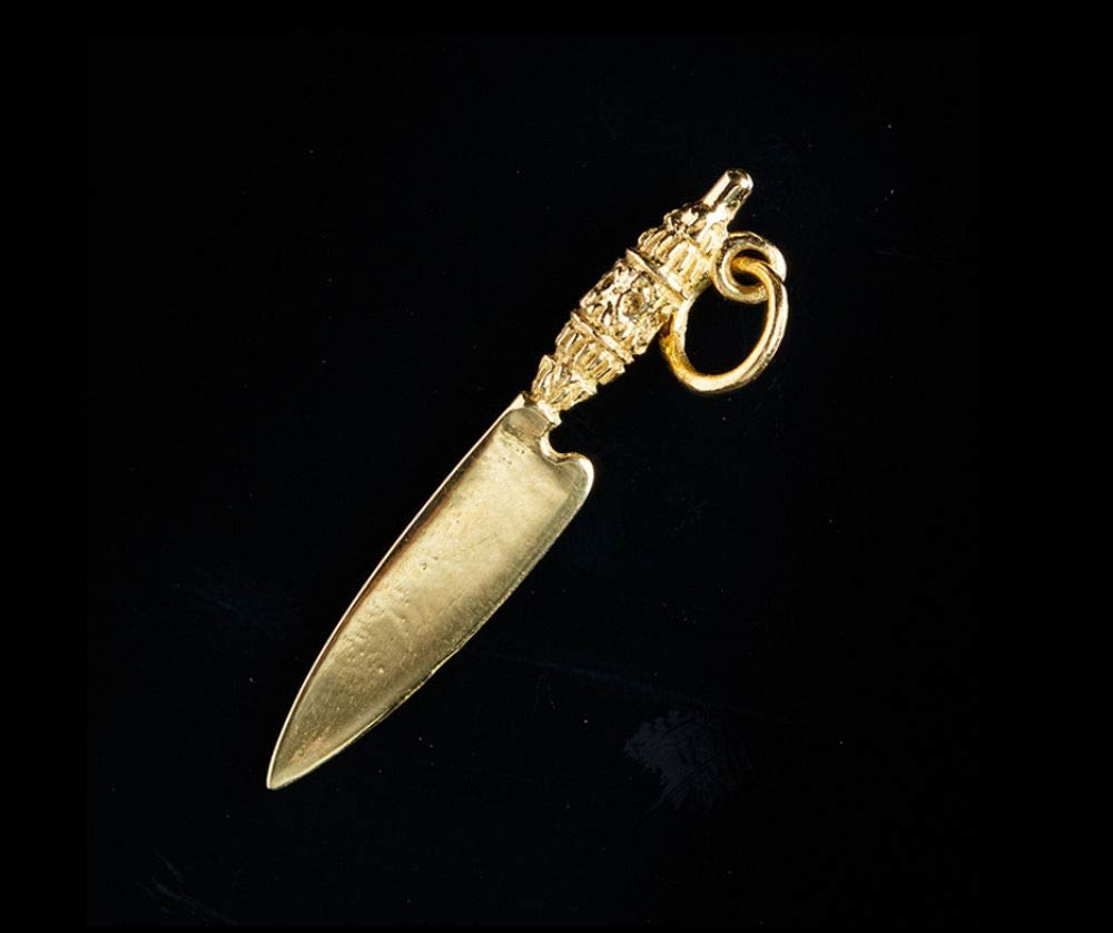 Colgante cuchillo canario de oro.: Amazon.es: Handmade