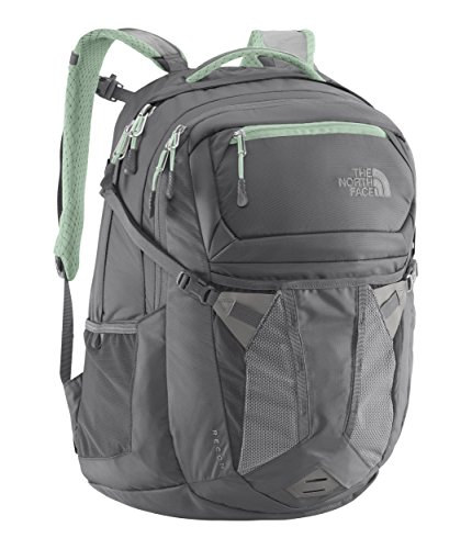 The North Face Women's Recon Laptop Backpack - 15'' (Zinc Grey/Surf Green) by The North Face
