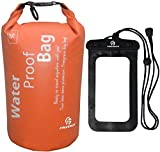 Freegrace Waterproof Lightweight Dry Sack/Dry Bags -Fits Perfectly in Your Backpack -Keeps Gear Dry for Kayaking, Beach, Rafting, Boating, Hiking, Camping and Fishing (Orange, 5L)