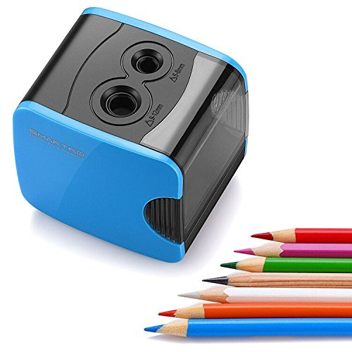 SMARTRO Electric Pencil Sharpener, Best USB or Battery Operated Heavy Duty for No.2 and Colored Pencil Photo #8
