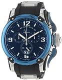 Invicta Men's 12439 Russian Diver Chronograph Black Dial Black Polyurethane Watch, Watch Central