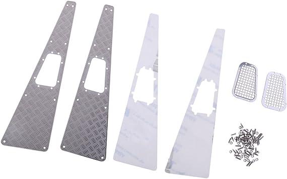 Baoblaze Placa Antideslizante Rejilla de Admisión de Metal Kit de Accesorios para 1:10 Traxxas TRX-4 TRX4 RC Coche