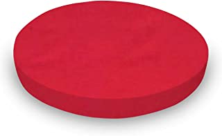 product image for SheetWorld Round Crib Sheets - Solid Red Woven - Made In USA