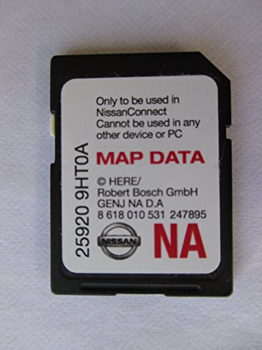 Nissan 9HT0A Connect SD Card, Navigation GPS MAP Data, NAVTEQ,North America US Canada 2017 Update, 25920-9HT0A,fits 14-15 Rogue Juke Altima SENTRA Xterra Frontier and 2015 NV200