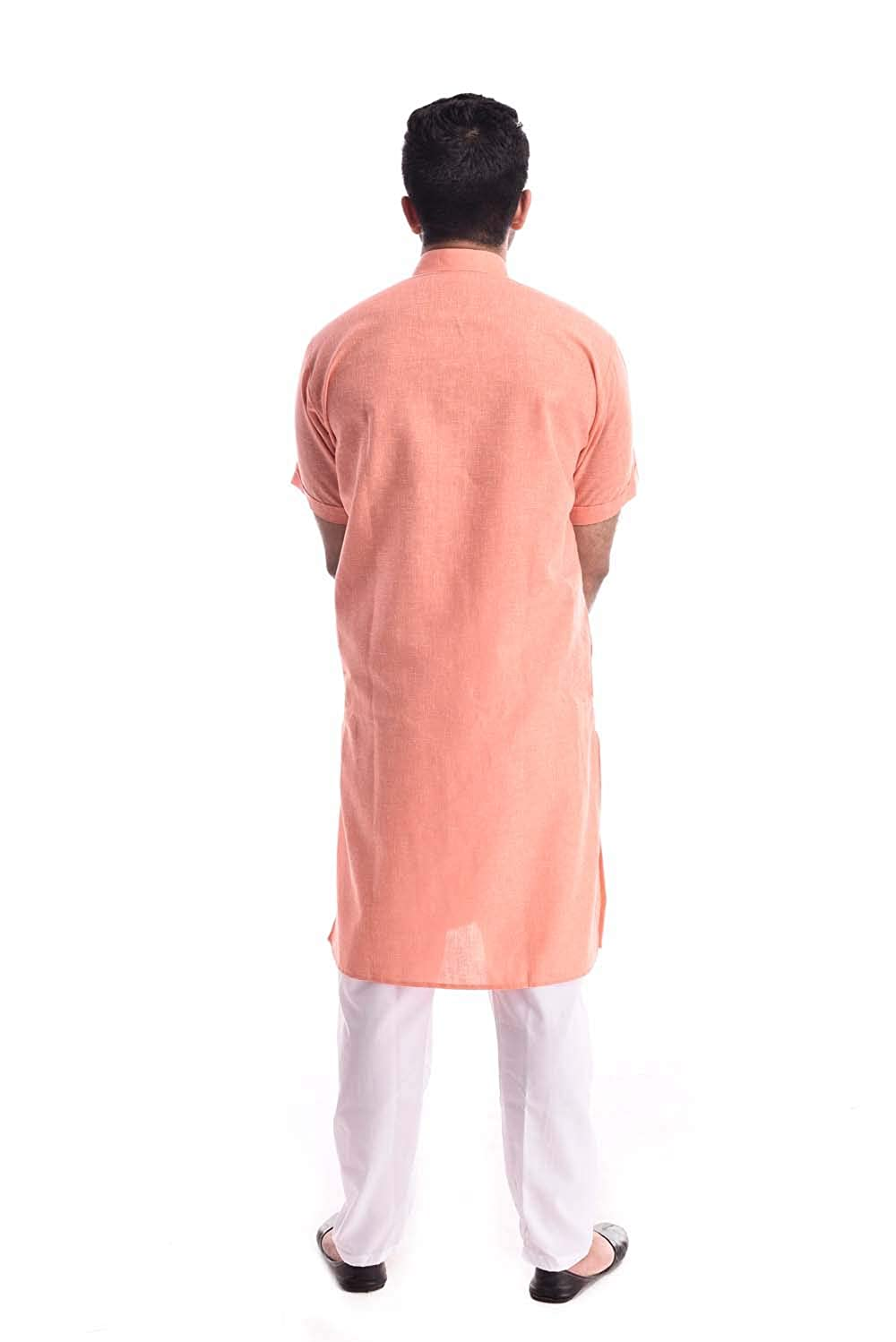 882024f55d4 Royal Kurta Mens Linen Half Sleeve Kurta Pyjama  Amazon.in  Clothing    Accessories