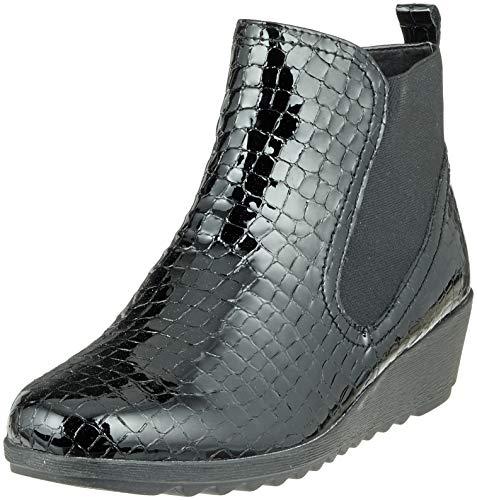 Chelsea Black Blk Women's 64 Boots Caprice Croco Pat 25409 x6q7UwwT
