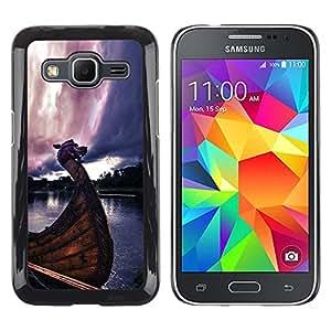 EJOY---Cubierta de la caja de protección la piel dura para el / Samsung Galaxy Core Prime / --Barcos Vikingos