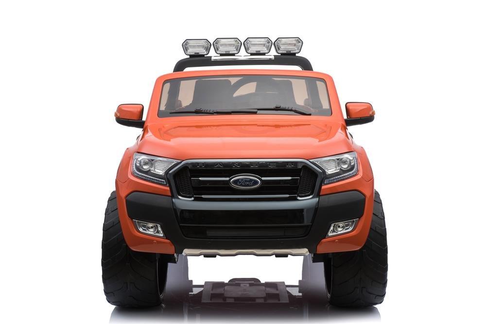 Babycar 650 - Coche para niños Jeep SUV Ford Ranger (naranja) Luxury con ruedas de goma, monitor táctil, 650A y MP3, mando a distancia y motores 4 x 4 ...