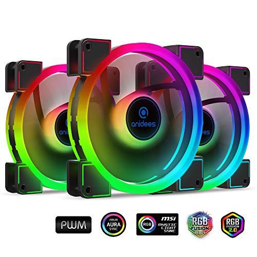 Ventilador anidees AI Aureola Duo 140mm 3pcs RGB PWM Dual Li