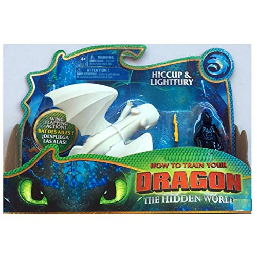 23cm (9.1 inch) How to Train Your Dragon 3 / Light Fury Toothless Action Figure / 2 Style (White)