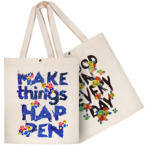 Zwoos 2pcs Shopping Bag Zippered Shopping, Picnic, Home Storage And Good School Day