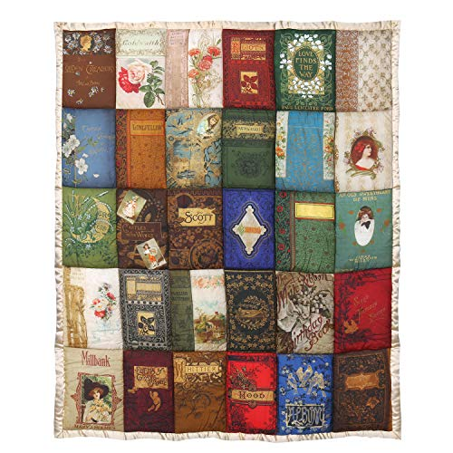 - Victorian Trading Co. Cover to Cover Book Throw Blanket - Quilted Book Covers Pattern