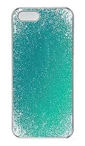 IMARTCASE iPhone 5S Case, Aqua Blue Grunge Pattern PC Hard Case Cover for Apple iPhone 5S Transparent