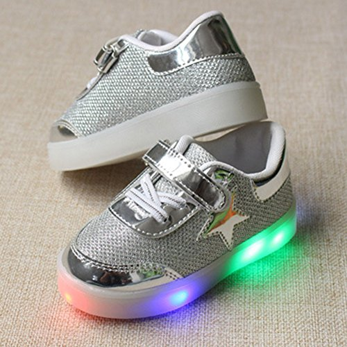 Highdas Niño Niña Prewalker Light Zapatos plata