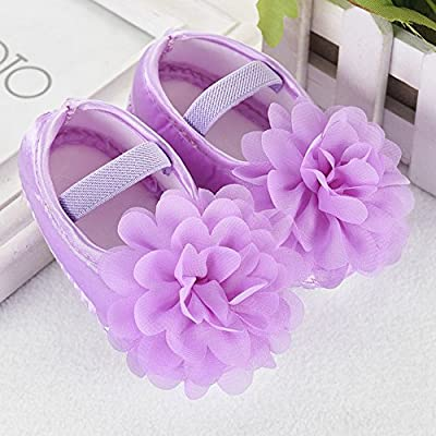 Toddler Shoes, Baby Flower Walking Shoes Newborn Shoes Kid Elastic Summer Shoes Baby Princess Soft Sole Bowknot Shoes by CieKen