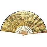 Oriental Style Folding Fan Hand Fan Handfan Handheld Fan Perfect Gift, G