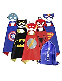Mizzuco Cartoon Hero Costumes Capes with Felt Mask (5pcs)