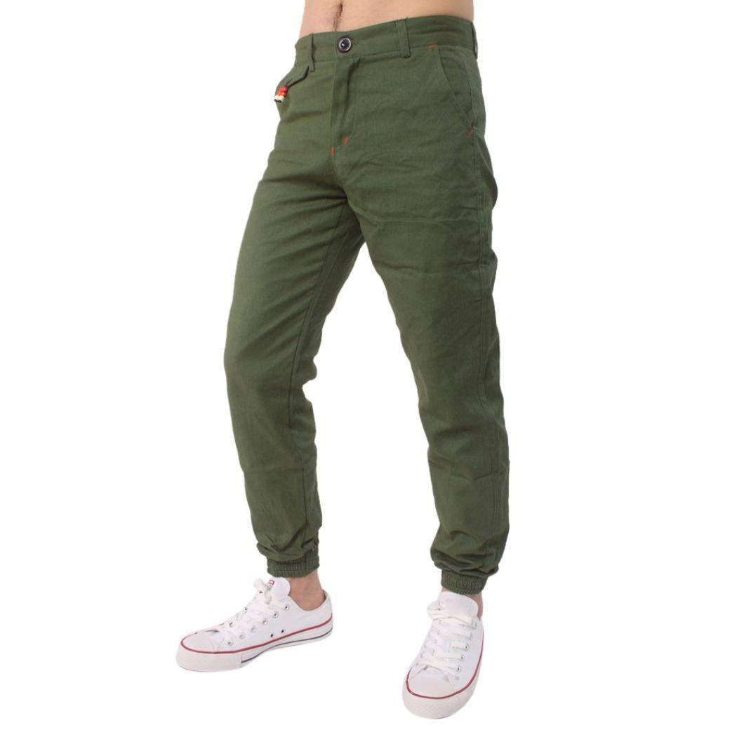 Realdo Clearance Casual Slack Solid Harem Sweatpants Loose Jogger Pant Sportwear Comfy for Men(Medium,Army Green)