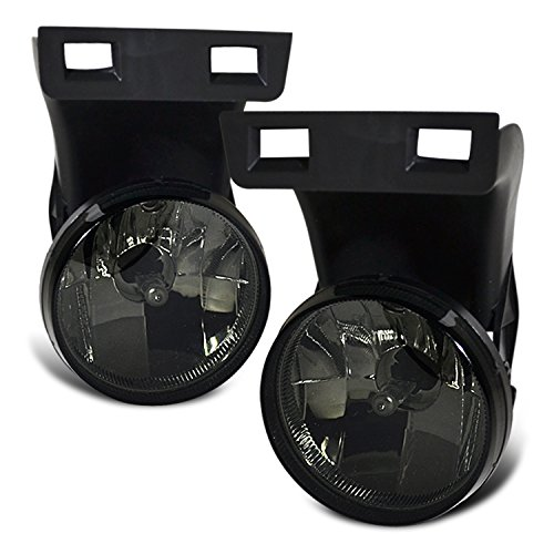 Rxmotor Dodge Ram 99 00 01 02 Fog Light Lamp W/O Sport Pkg Pair (smoke2) (02 Fog 00 01 Light)
