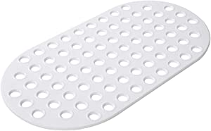 ALL PRIDE Bathtub and Shower Mat, Non Slip, Machine Washable, Perfect Bath Mat for Tub and Shower for Kids and Elderly, 29 x15 Inch, White