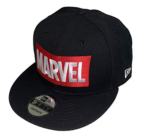 Marvel Comics Logo New Era 9Fifty Black Snapback Cap Hat