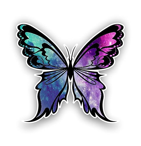 Monarch Butterfly sticker 14 custom color patterns (starry sky) (Vinyl Stickers Butterfly)