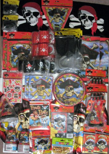 Pirate Ultimate Party Supply Pack for 16 by Unique